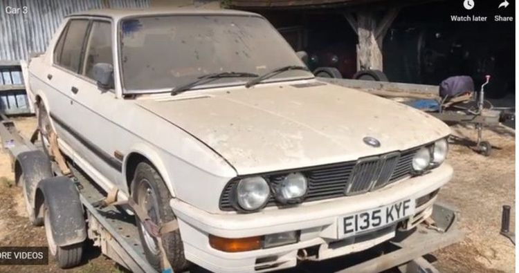 В старом ангаре обнаружили сразу девять забытых BMW E28