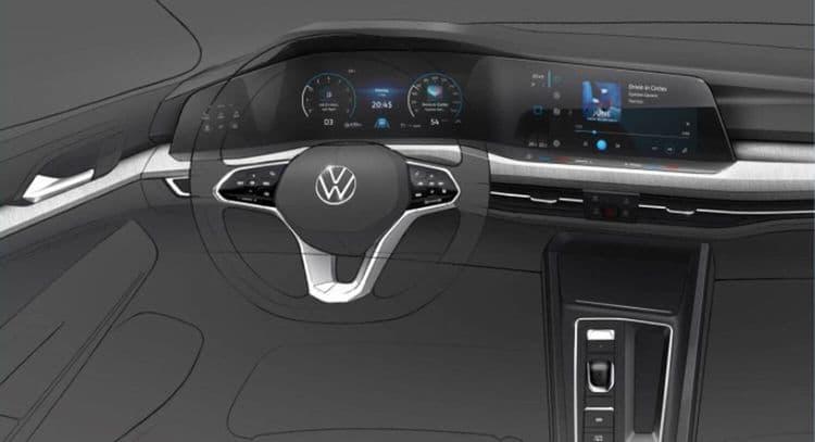 VW Golf 8 поколения (первые фото)