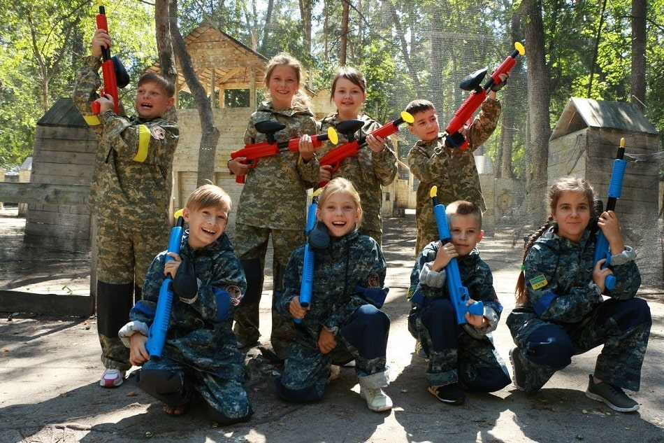 Детский лазертаг в Киеве
