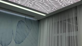 Натяжные потолки со светодиодной LED подсветкой по периметру в Киеве от Demi-Lune