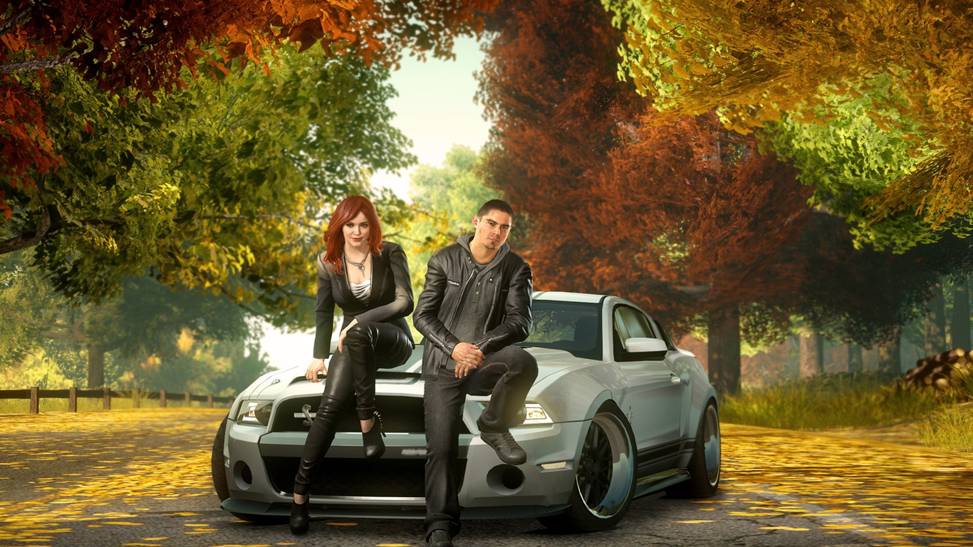 sam jack, ford mustang, осень, машины, need for speed the run