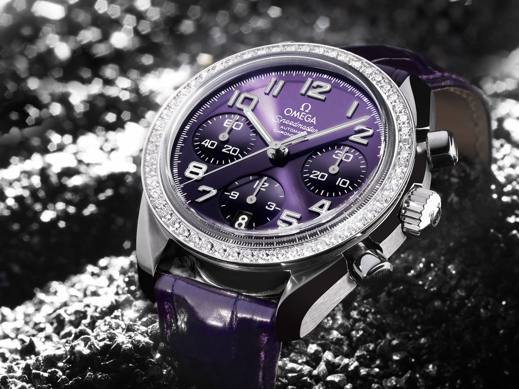 omega, speed, ladies purple