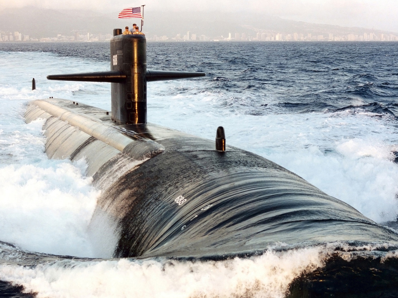 submarine, ssn-688, uss los angeles, подлодка