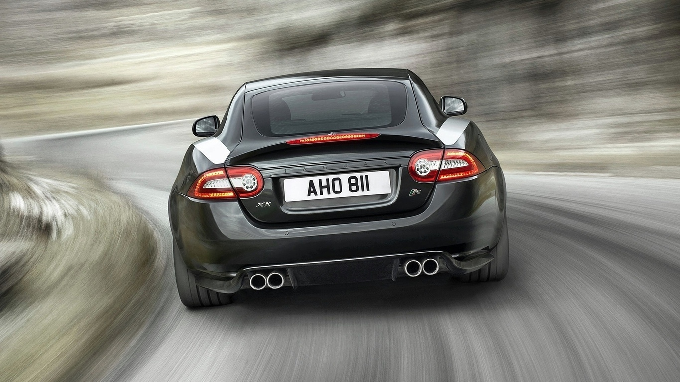 xkr, jaguar, rear, 2010