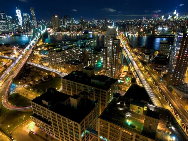 ночь, new york, building, nyc, огни, lights, street, usa, нью-йорк, manhattan