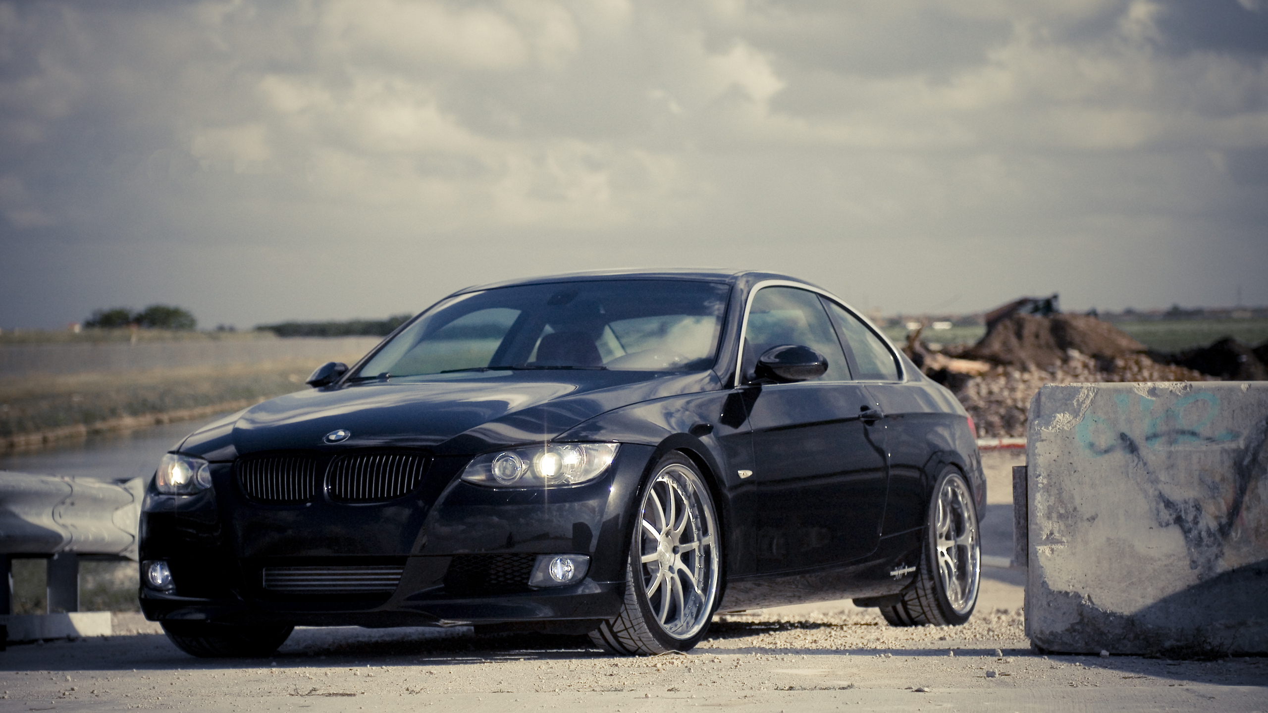 3 series, bmw, передняя часть, бмв, чёрный, 335i, 360 three sixty forged, black