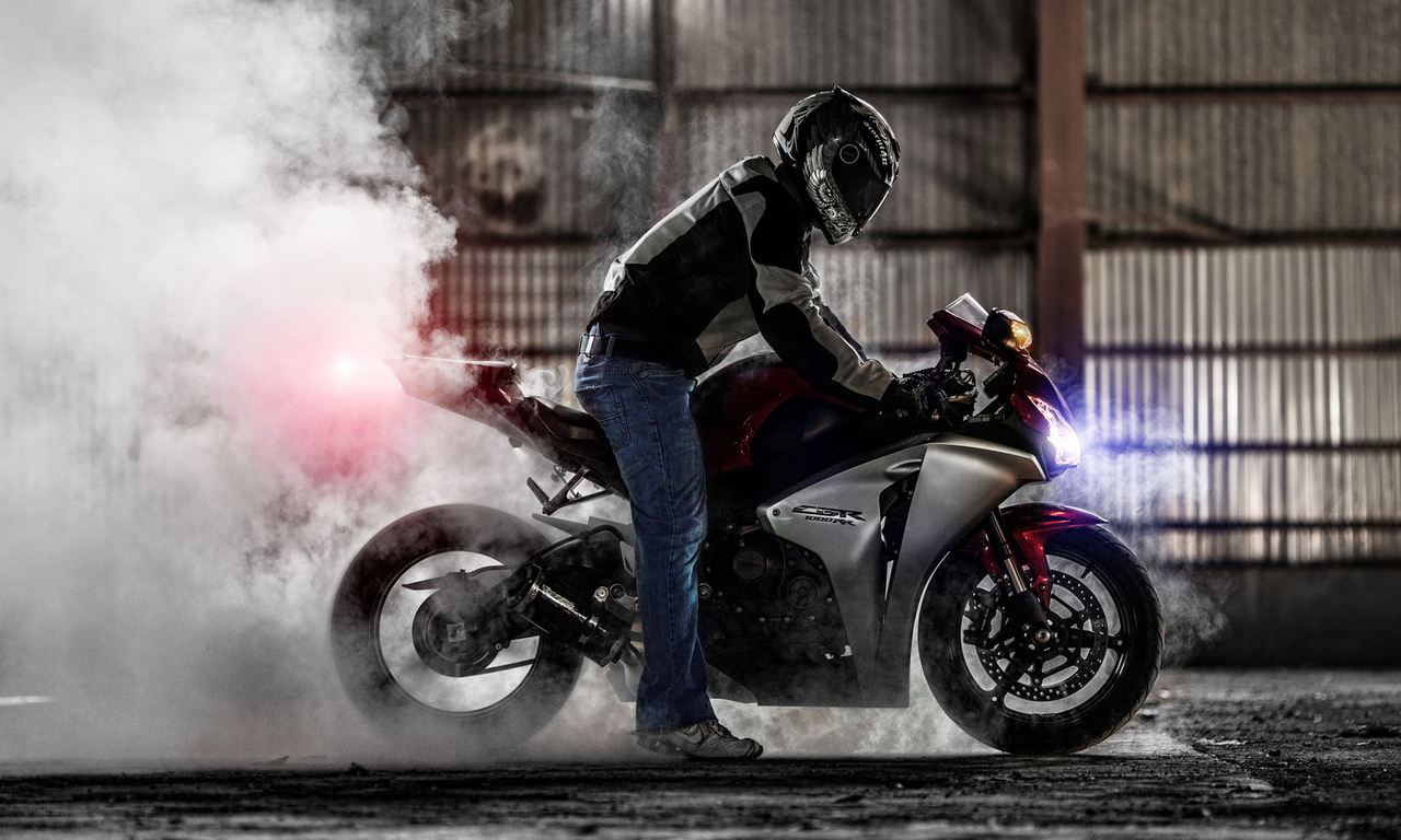 superbike, sportbike, burnout, мотоцикл, дым, хонда, honda cbr 1000rr