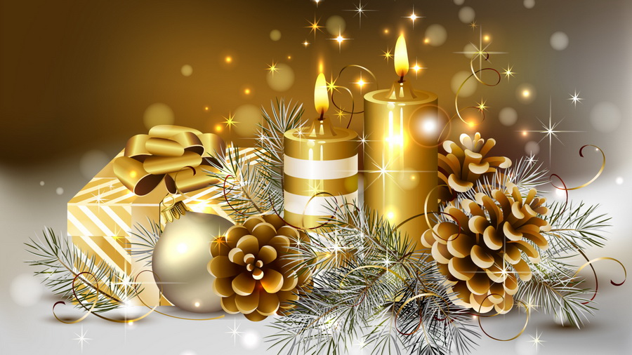 Картинки природа зима новогодние подарки