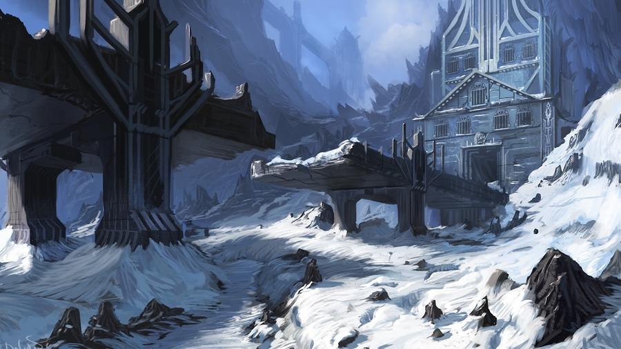 Картинки на рабочий стол зима природа замки
