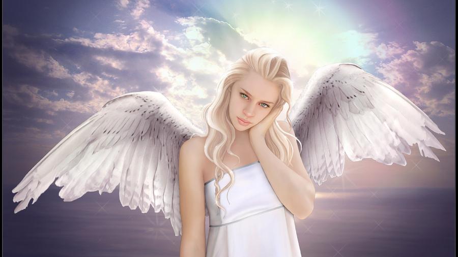 Картинки девушка ангел зимой