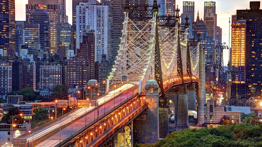 Фото обои usa, нью-йорк, queensboro bridge, new york, nyc, east river, new york city, manhattan для всех разрешений монитора
