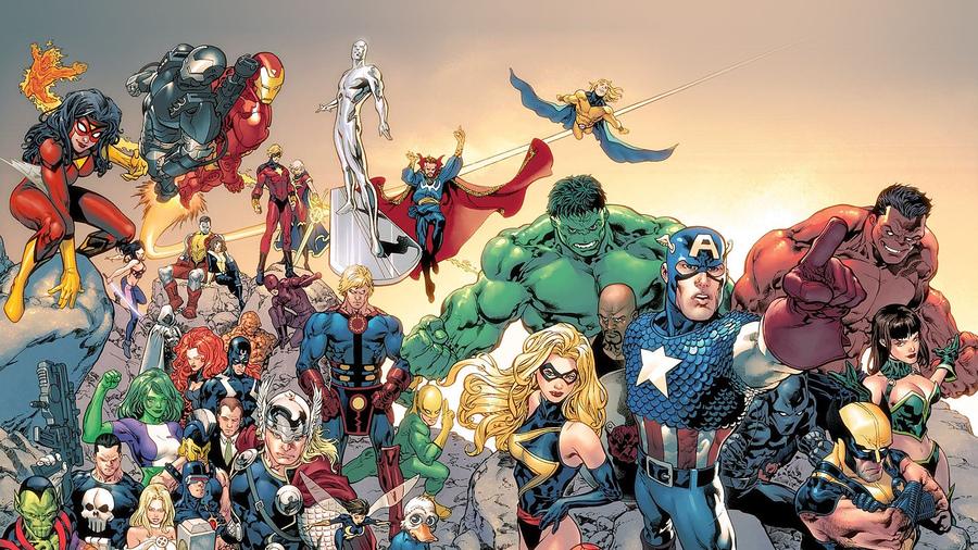итоге красивые картинки с супергероями раскладывают