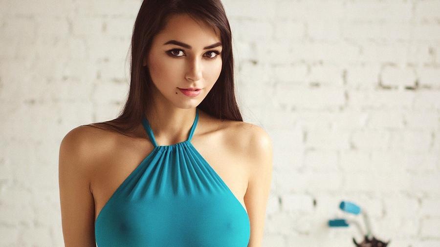 Обои девушка, модель, позирует, Helga Lovekaty на рабочий