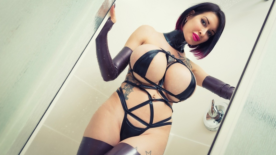 Big Breast Gorgeous Body And Hundreds Dresses Amde From Latex Rubber Exxxtrasmall 1