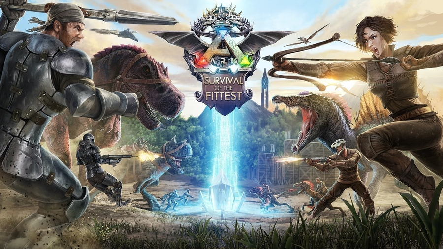 Фото обои dinosaurs, battlefield, spark, assault rifle, combat, weapon, gun, arrow, bow, montain, war, fight, urvival volved, man, bones, base advanced base, base operations, helmet, rifle, fire, game, skull, flame, woman, girl, laser, kabuto, spear, forest, shotgu для всех разрешений монитора