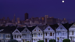 california, sky, moon, Usa, сан-франциско, san francisco, сша, night, ночь