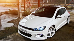 dub edition tuned, scirocco, белый, тюнинг, Volkswagen