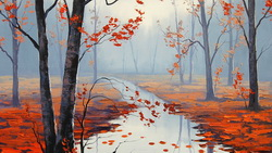 Арт, artsaus, рисунок, calm autumn day