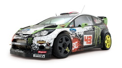 2012, ken block, rs, monster energy, ралли, Ford, fiesta, кен блок, rally, wrc ...