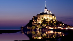 castle, франция, нормандия, France, island, normandy, mont saint-michel