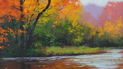 artsaus, autumn stream, Арт, рисунок