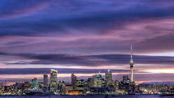 city, окленд, skyscrapers, sky tower, city center, sky, new zealand, Auckland, harbour ...