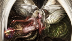 fantasy, magic, girl,  angel or demon, game wallpapers, wings, Lineage 2 goddess of destruction ...