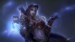 доспехи, эльф, wow, lady sylvanas windrunner, World of warcraft, магия
