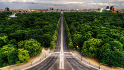 park, avenue, view, berlin, street