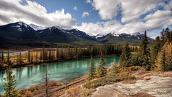 canada, banff national park, pacific railway