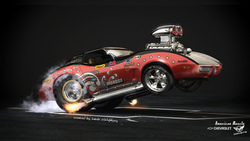 Chevrolet corvette, hot rod, car, american muscle