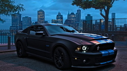 tuning, black, Ford mustang