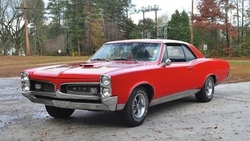 понтиак, coupe, gto, гто, muscle car, hardtop, 1967, red, Pontiac, красный