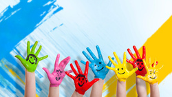 colour wall, Kids, mode, руки, дети, children, дети, drawing, happiness, hands, smiles ...