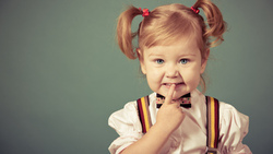 child, little girl, fashion, young, stylish, cute, children, angry, blonde, beautiful, hair bow ...