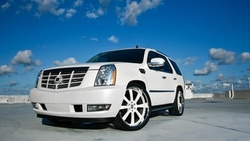 sky, cadillac, white, escalade, кадиллак, эскалад, clouds, белый