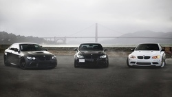 e90, white, m3, 330i, golden gate, black, bmw, e92, bridge, бмв, matte black, купе ...