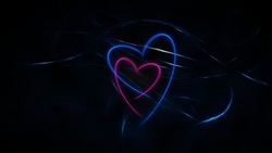 pink, black, hearts, abstraction, background, blue, dark, lines