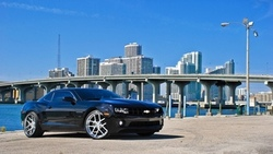 chevrolet, miami, camaro ss, black, чёрный, florida, шевроле камаро сс