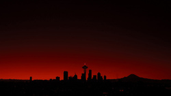 seattle, seattle, здания, sunset, сиэтл, red, buildings