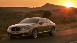 sunset, bentley, continental gt speed