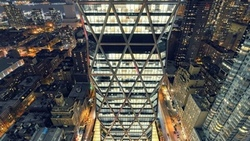 usa, огни, nyc, midtown, нью-йорк, night, hearst tower, new york city, ночь