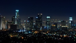 огни, ночь, usa, la, los angeles, southern california, downtown, night, california, калифорния ...