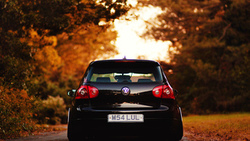 осень, volkswagen, auto, cars, city, wallpapers, листва, vw, дорога, обои авто, golf, wallpapers auto ...