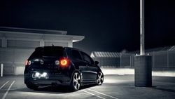 cars, огни, auto, volkswagen, wallpapers, parking, gti, cars wall, golf, city, ночь, vw ...
