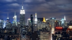 night, ночь, nyc, midtown manhattan, new york, нью-йорк, огни