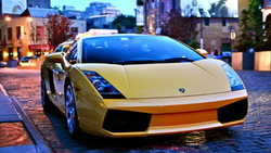 вечер, auto, дорога, город, city, cars, фото, улица, wallpapers, lamborghini gallardo ...