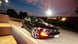 ford, mustang, muscle car, ночь, авто