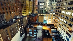 нью-йорк, night, nyc, financial district, manhattan, ночь, cars on roofs, огни, new york city ...