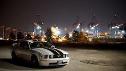 auto, ford mustang, улица, gt, вечер, cars wall, wallpapers auto, city, cars, обои авто, фото ...